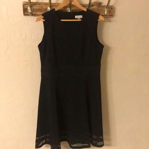 Calvin Klein - Round Neck Sleeveless Dress